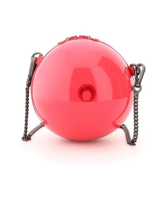 MARINE SERRE Mini Ball Bag in het Pink