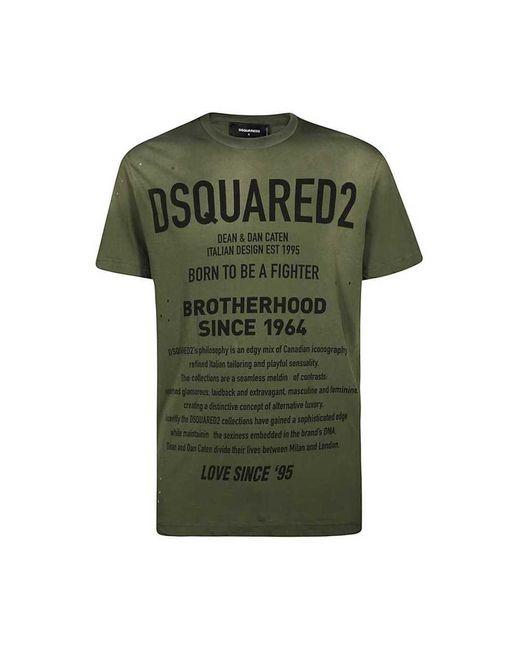 DSquared² S21600 703 T-shirt in het Green voor heren