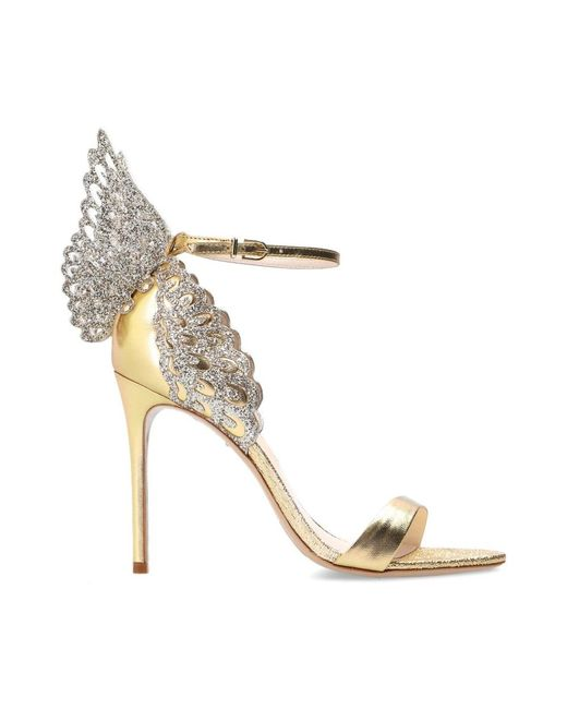 Sophia Webster Evangeline Stiletto Sandals in het Yellow