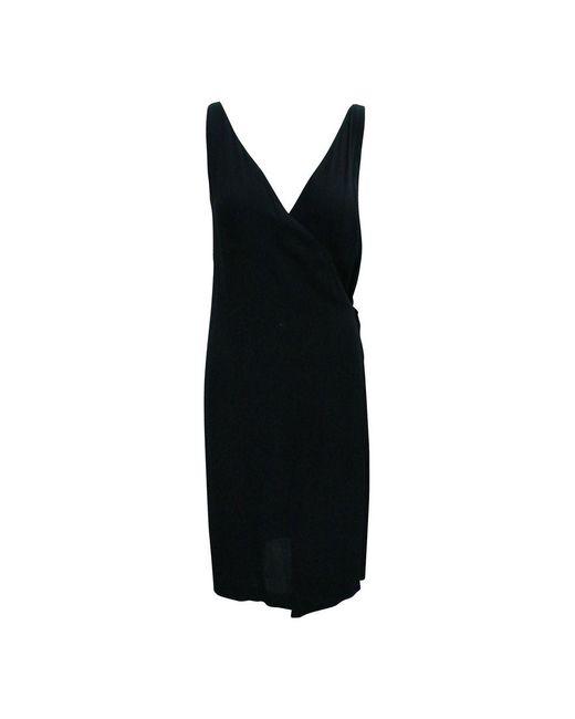 Hermès Long V-neckline Dress in het Black