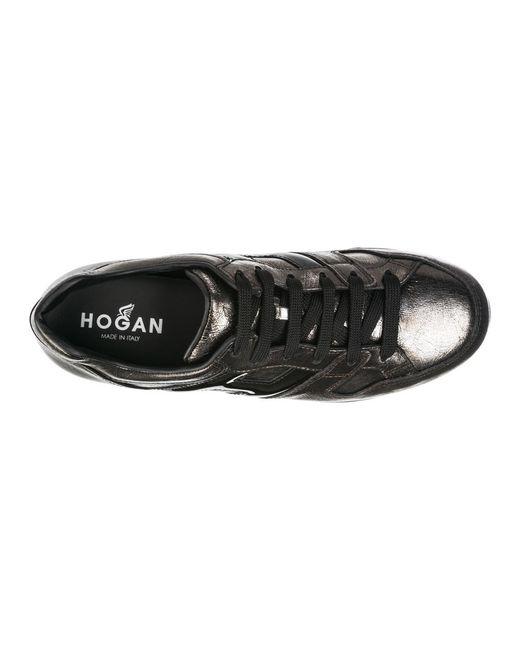 Leather trainers sneakers maxi Gris Hogan de color Gray