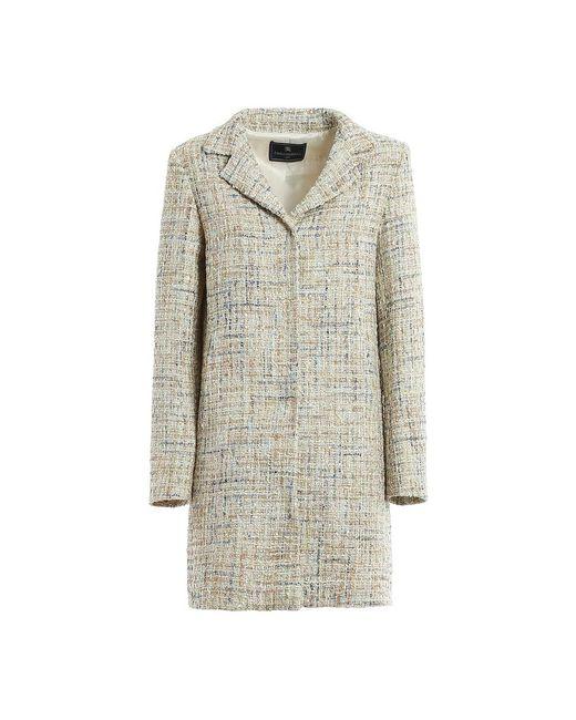 Lurex-Knit Coat di Paolo Fiorillo Capri in Gray