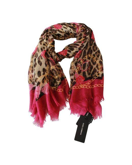 Tassel Neck Wrap Shawl Dolce & Gabbana en coloris Pink