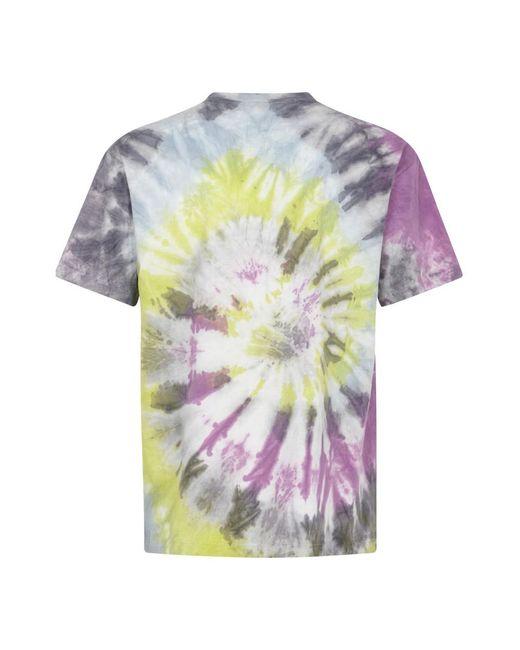 T-shirt with Tie Dye Print Morado Aries de hombre de color Multicolor