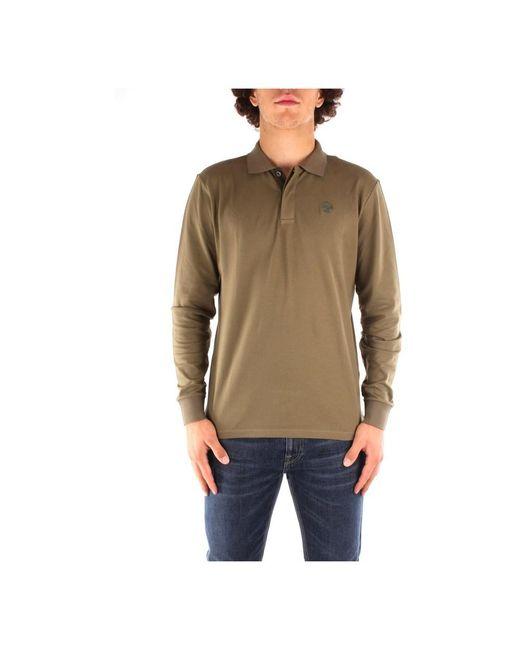 692288 Â Long sleeves polo shirt di North Sails in Green da Uomo