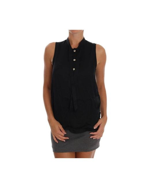 Versace Jeans Sleeveless Top in het Black