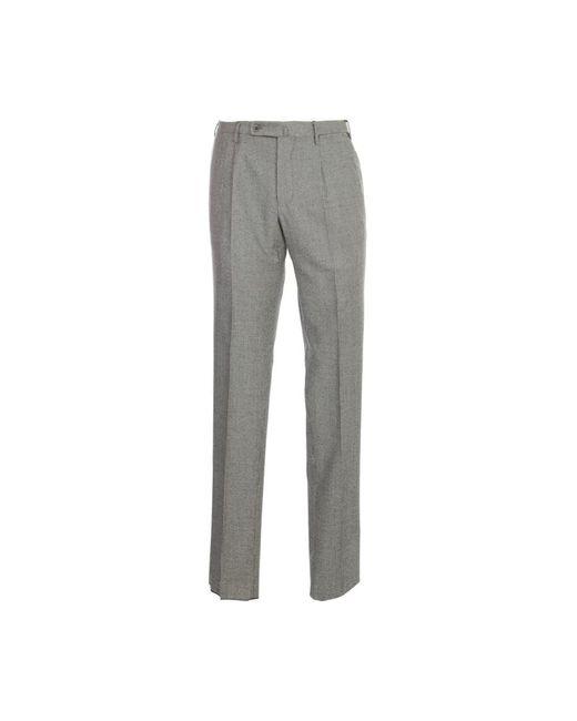 Incotex Pied De Poule Pants in het Gray voor heren