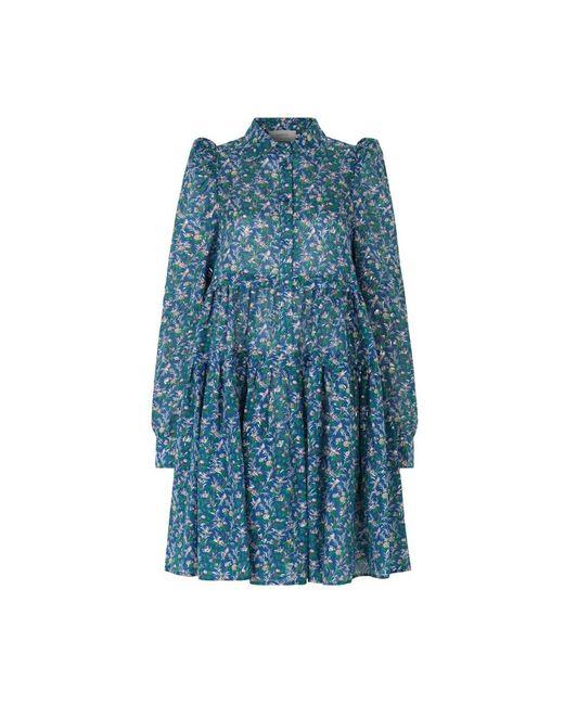 Munthe Triangle Dress in het Blue