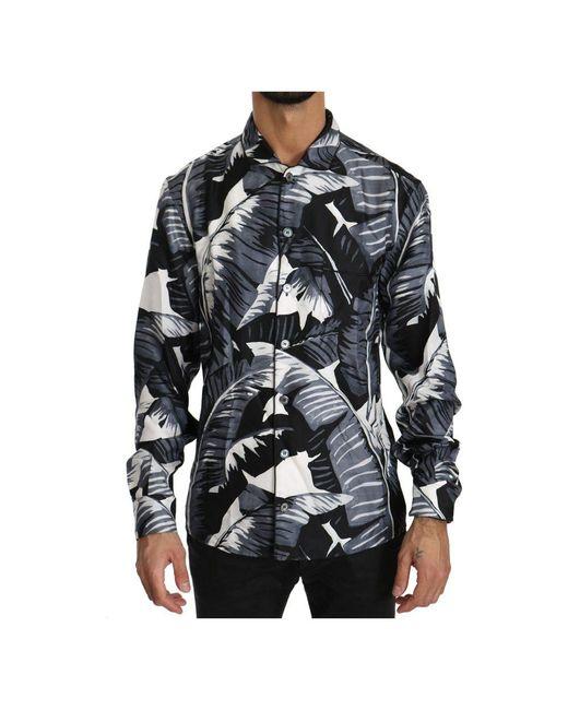 Dolce & Gabbana 100% Zijde Shirt in het Black voor heren