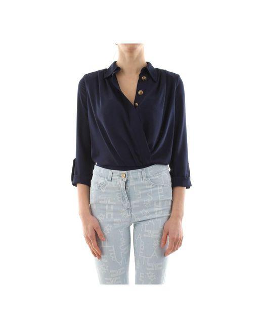 Elisabetta Franchi Cb10501e2 Overhemd in het Blue