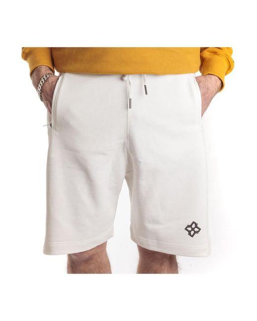 Tagliatore Bermuda Con Elastico In Vita E Due Tasche in het White voor heren