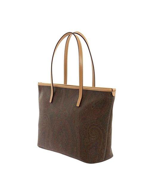 Bag shopper Etro en coloris Brown