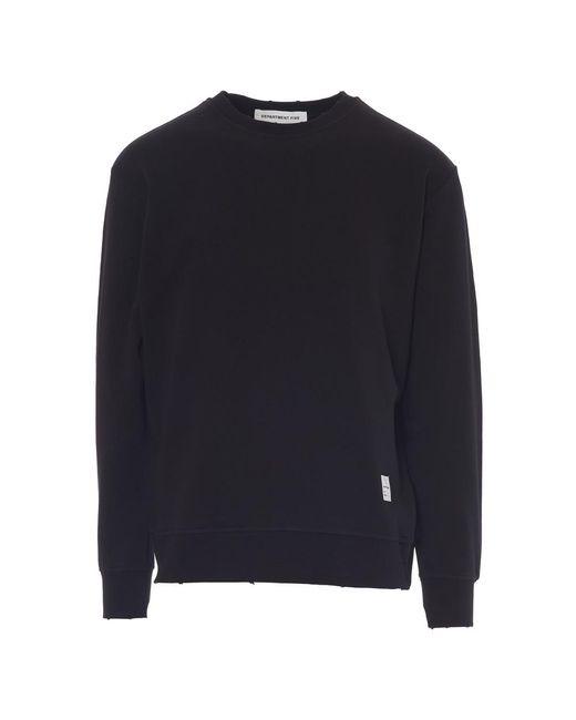 Department 5 Sweater in het Black voor heren