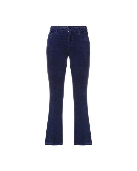 Selena MID Rise Crop Boot Trousers Azul J Brand de color Blue