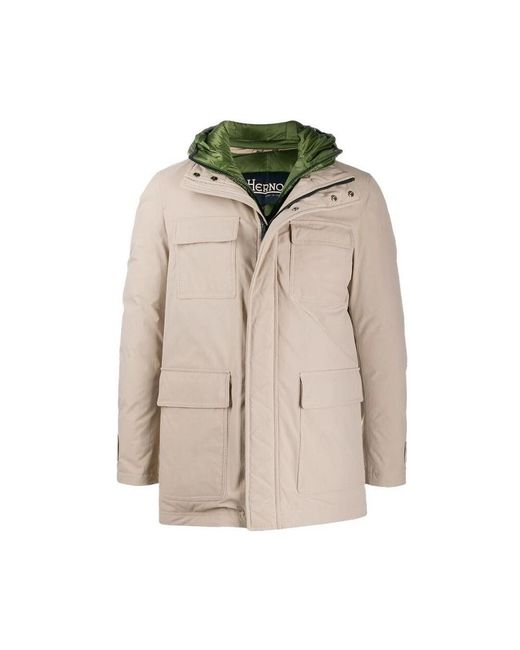 Herno Field Jacket Con Cortavientos Interior Desmontable in het Natural voor heren
