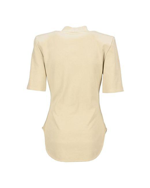 T Shirt Tessa Beige The Attico de color Natural