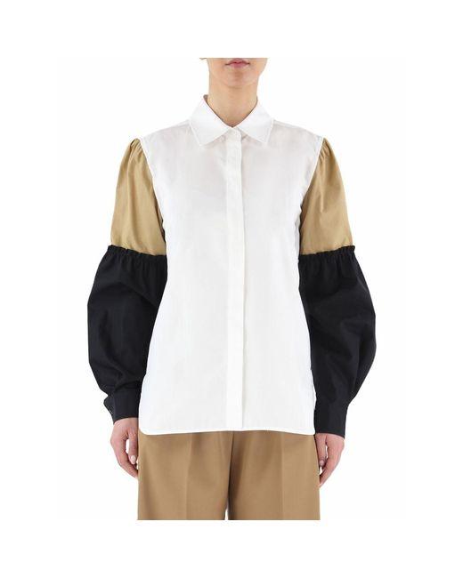 Max Mara Badia Camicie Casual in het White