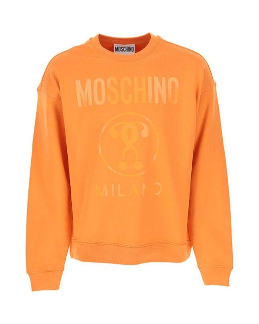 Moschino Sweatshirt in het Orange voor heren