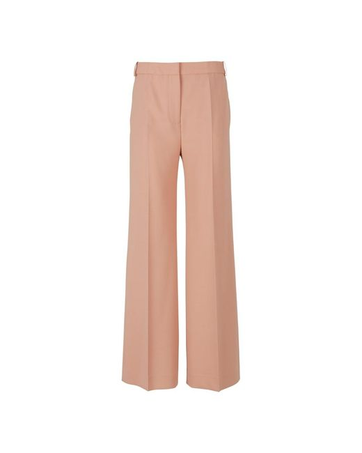 Victoria Beckham Extra Wide Leg Trousers in het Natural