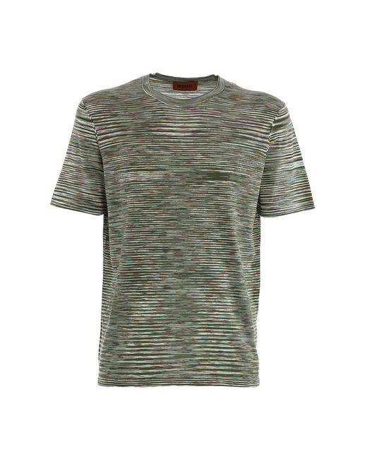 T-shirt di Missoni in Green da Uomo