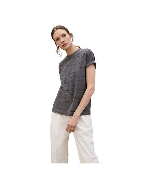 Brunello Cucinelli Jersey T-shirt in het Gray