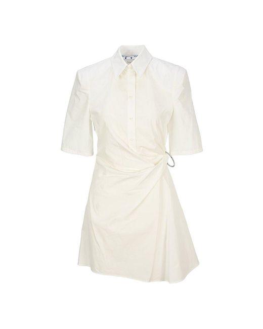 Off-White c/o Virgil Abloh Dress Owdb328s21fab002 in het White