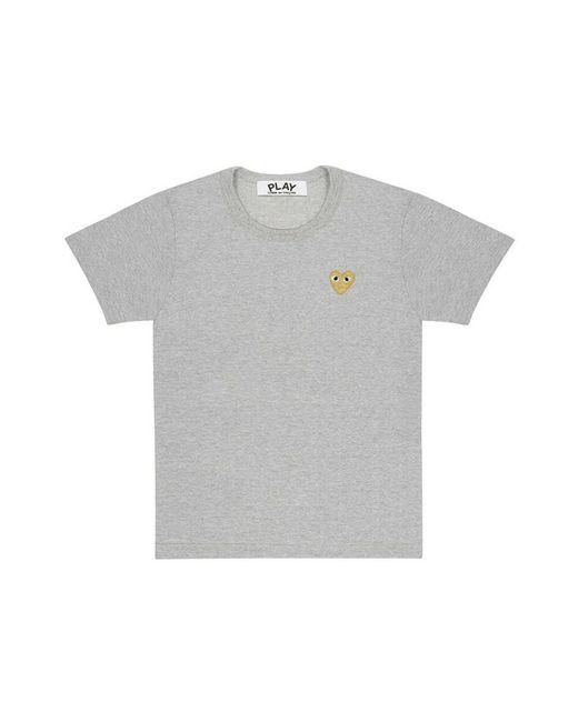 COMME DES GARÇONS PLAY T-shirt in het Gray voor heren