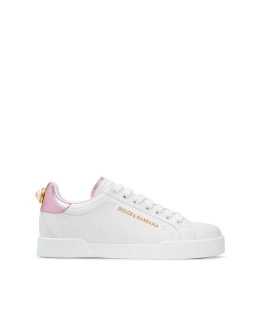Dolce & Gabbana Portofino Sneakers in het White