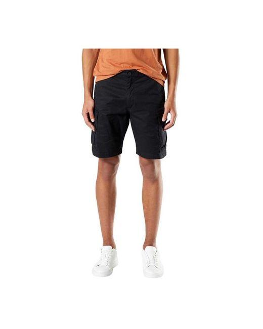 Smart Cargo Shorts di Dockers in Black da Uomo