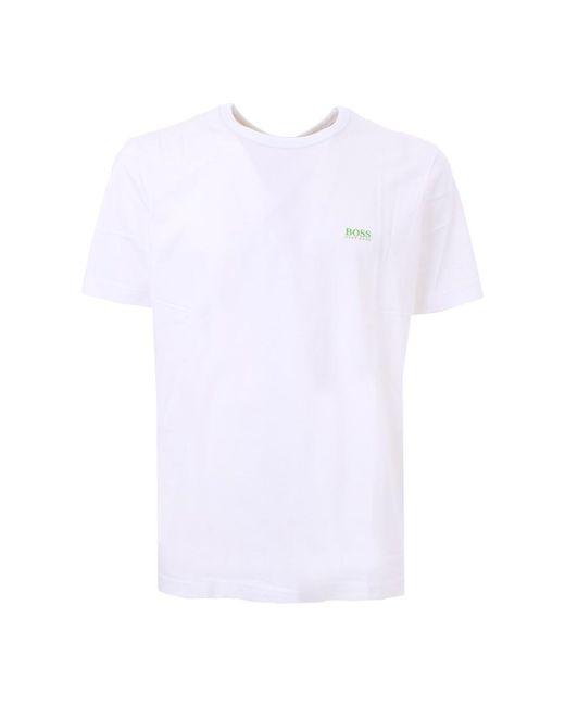 T-shirt Blanco BOSS by Hugo Boss de hombre de color White