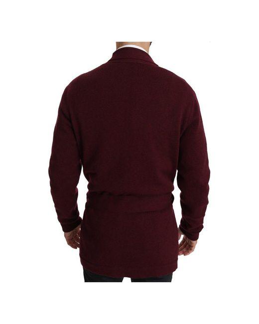 Dolce & Gabbana Robe Coat Wrap Jacket in het Red voor heren