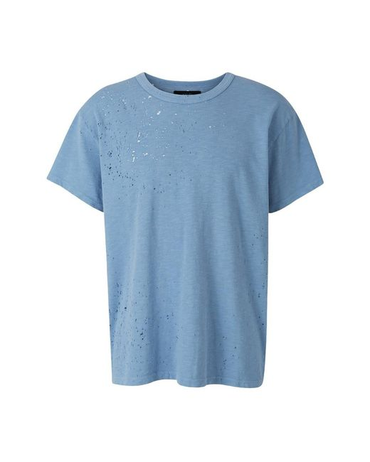 Amiri Shotgun T-shirt in het Blue