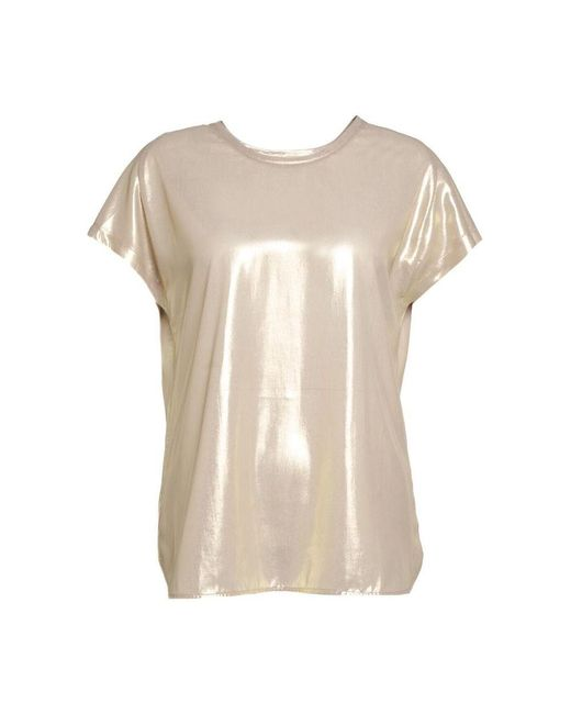Pinko Blusa In Georgette Farida 1 1g15tc Y63d in het Natural