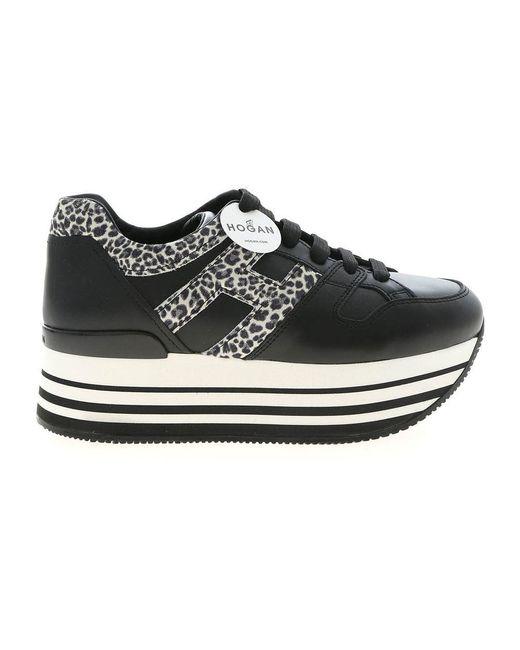 Hogan Maxi Platform Sneakers in het Black