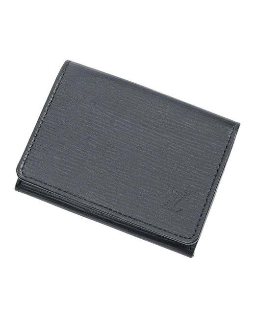 Louis Vuitton Gebruikte Kaarthouder in het Black