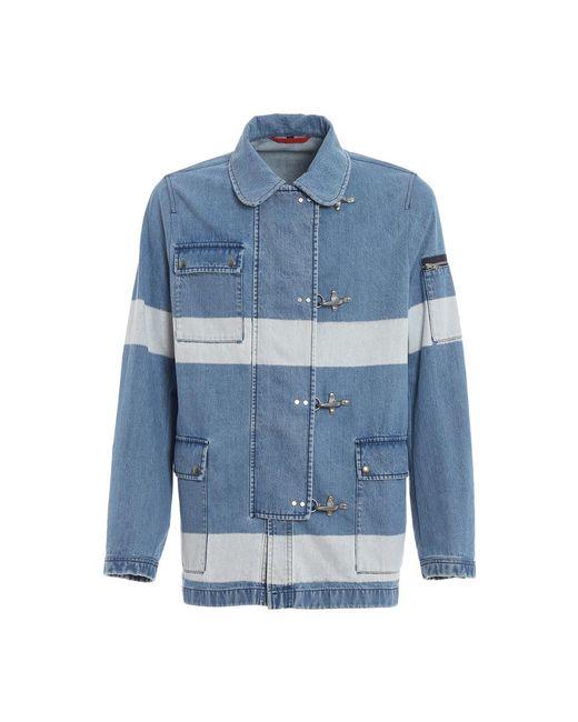 Fay Denim Jacket in het Blue voor heren