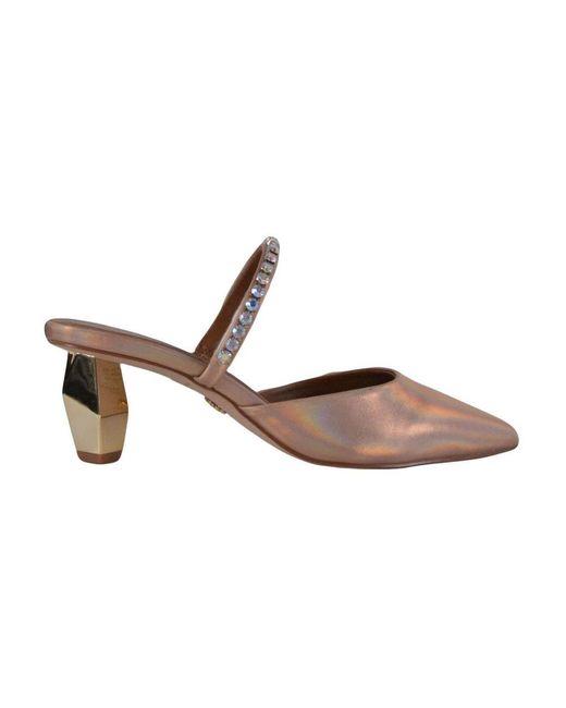 Kurt Geiger Sabot Sandals With Swarovski in het Brown