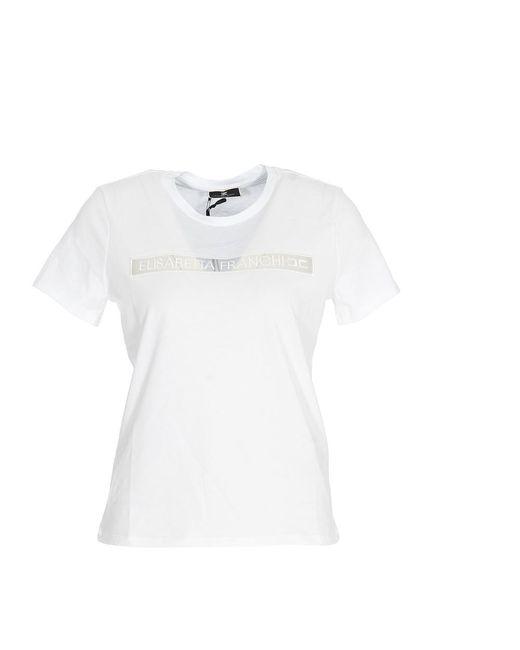 Elisabetta Franchi T-shirt in het White