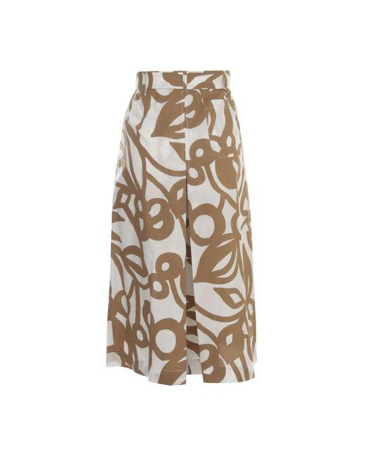 Short Skirt Pants Beige Aspesi de color Natural