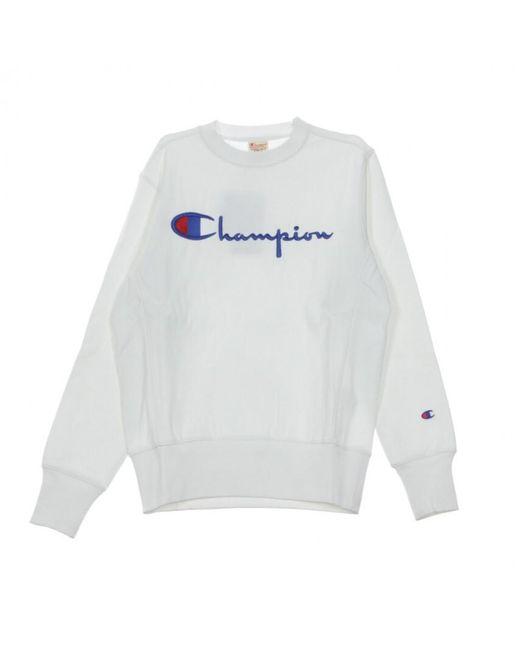 Champion Crewneck Crewneck Sweatshirt in het White voor heren