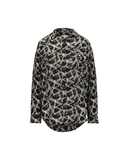 Equipment Signature Print Shirt in het Black