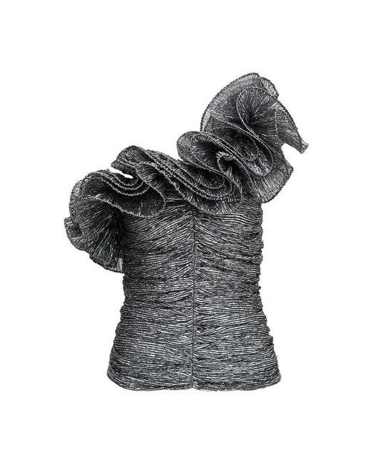 Isabel Marant Trudi One Shoulder Top in het Gray