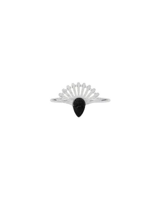 My Jewellery Stone & Bars Ring in het Gray