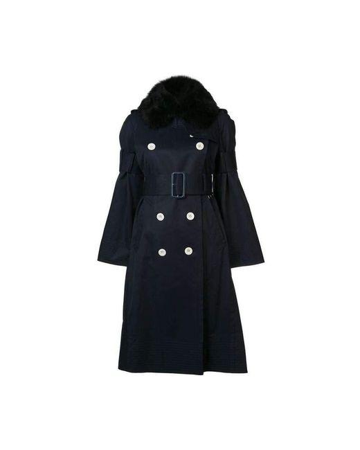 Sacai Trench Coat in het Blue