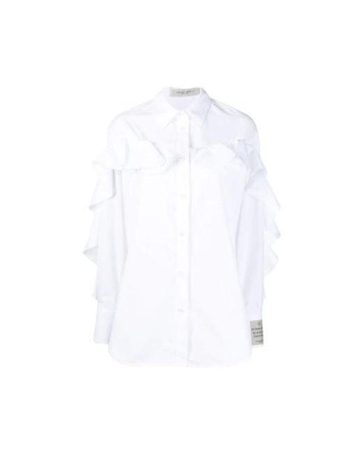 Golden Goose Deluxe Brand Shirt in het White