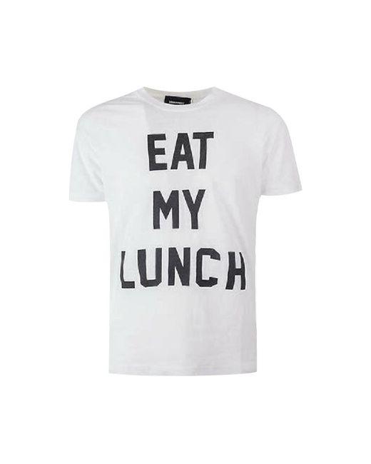 DSquared² Eet Mijn Lunch T-shirt in het White voor heren
