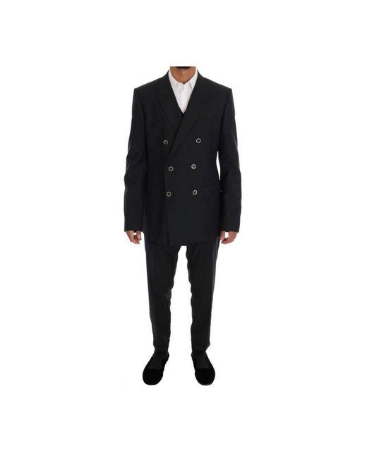 Dolce & Gabbana Martini Wol Zijde Slim Fit Suit in het Gray voor heren