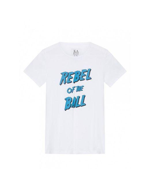 Rebel of the Ball Tee di Zoe Karssen in White