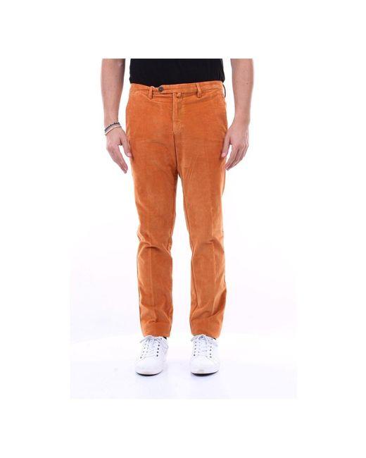 Michael Coal Trousers Ricky2635l in het Orange voor heren