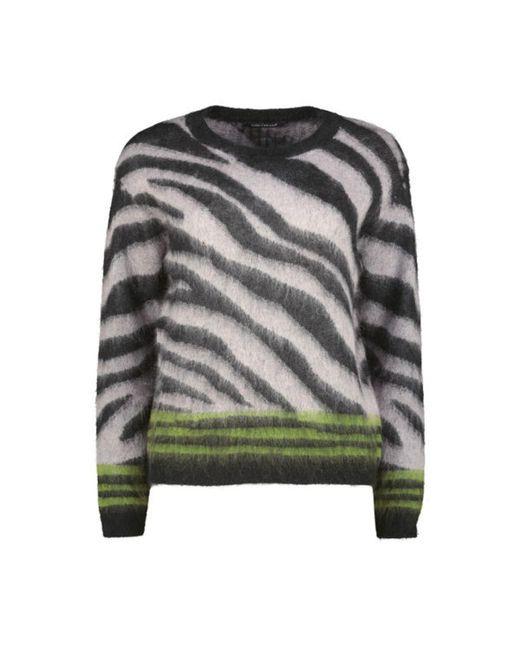 Luisa Cerano Wild Side Long Sleeve Pullover in het Black